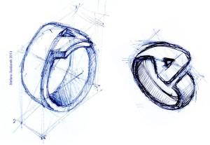 Schizzo per anello nuziale di Stefano