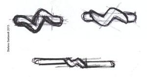 Schizzo per fede nuziale Antonella