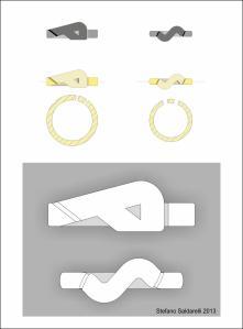 Fedi di Stefano e Antonella realizzate su CorelDraw X6