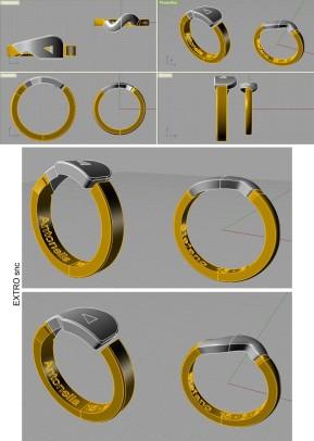 Le nostri fedi. Modellazioni 3D realizzate col software Rhinoceros da Mario Acuti - Extro snc Firenze