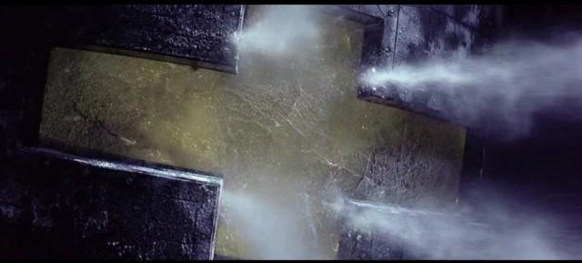 """""""Punto di non ritorno"""" del 1997 - vetrata della Event Hrizon"""