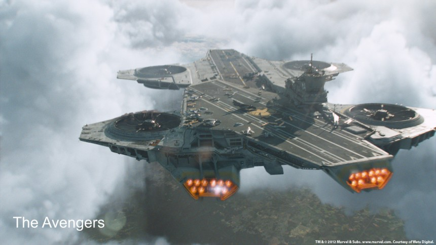 "The Avengers - la fortezza volante ""Helicarrier"""