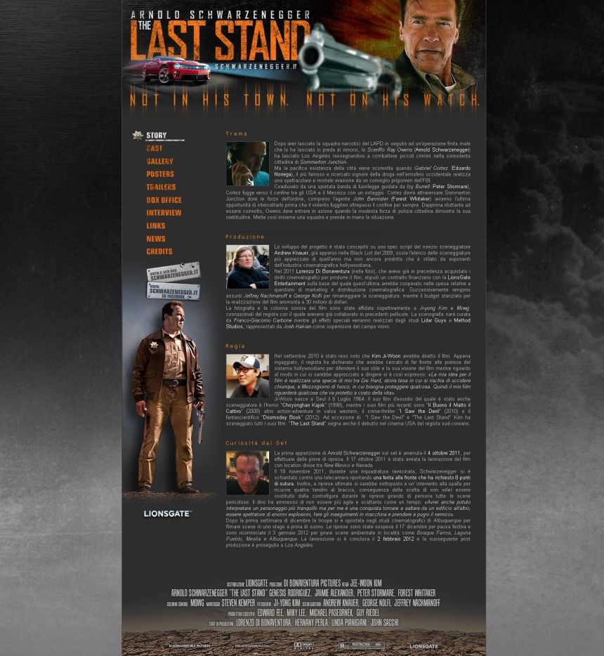 The Last Stand - Fan Page