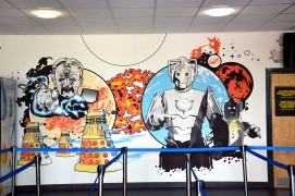 Doctor Who Experience - Cardiff Bay - Immagine sul muro d'ingresso