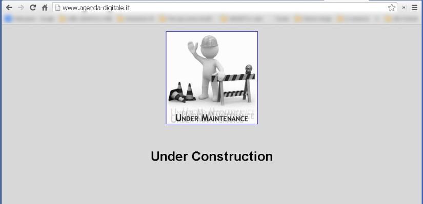 Home Page del sito http://www.agenda-digitale.it/
