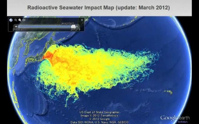 Diffusione in mare delle radiazioni provenienti dalla centrale nucleare di Fikushima