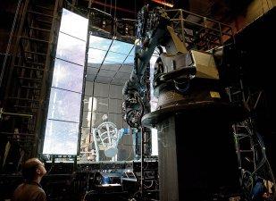 Sistema di ripresa della Bolt & Dolly dall'esterno del cubo led
