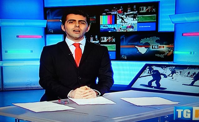 Ciò che si vede in TV. Foto scattata al televisore col mio smartphone.