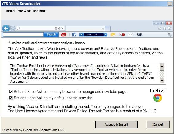 YTD Video Downloader - seconda schermata d'installazione