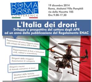 Locandina dell'evento Roma Drone Conference 19 dicembre 2014