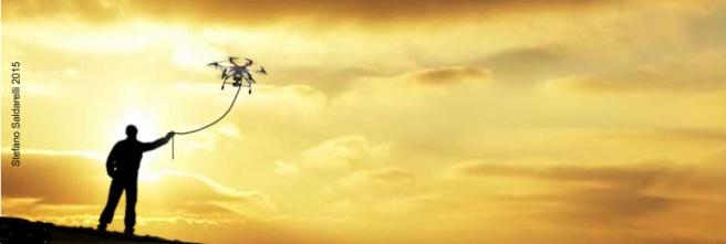 Drone al guinzaglio