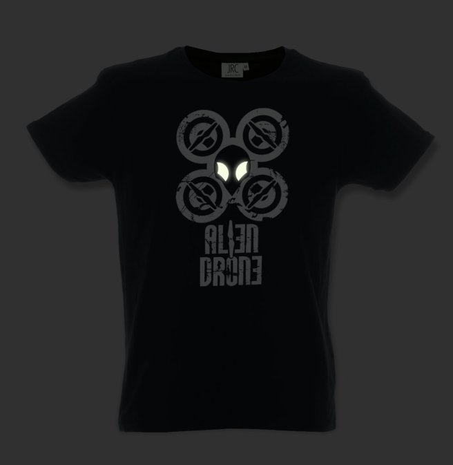 Alien Drone - t-shirt al buio