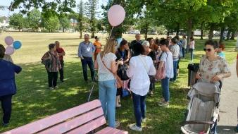 Annastaccatolisa - inaugurazione panchina rosa e azzurra a Larciano