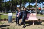 Roberta Romani - presidente associazione Annastaccatolisa col sindaco di Prato Matteo Biffoni