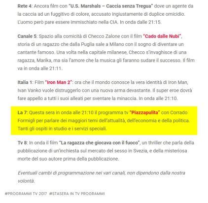 https://italiapost.it/guida-tv-stasera-programmi-26-gennaio-2017/